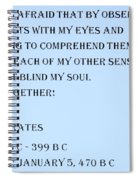Socrates Quote In Cyan Spiral Notebook
