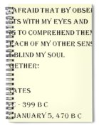 Socrates Quote In Sepia Spiral Notebook