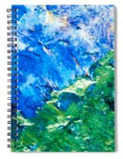 Sodium Thiosulphate Microcrystals Colorful Art Spiral Notebook