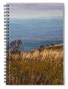 Sofia Valley From Vitosha Mountain October Early Twilight Spiral Notebook