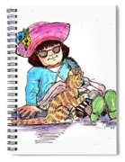 Sofie And Mittens Spiral Notebook