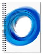 Soft Blue Enso - Abstract Art By Sharon Cummings Spiral Notebook