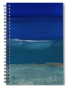 Soft Crashing Waves- Abstract Landscape Spiral Notebook