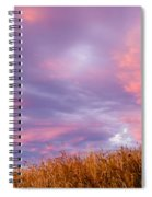 Soft Diffused Colourful Sunset Over Dry Grassland Spiral Notebook
