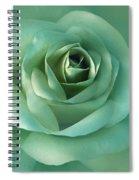 Soft Emerald Green Rose Flower Spiral Notebook