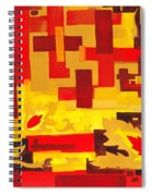 Soft Geometrics Abstract In Red And Yellow Impression I Spiral Notebook
