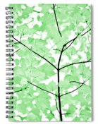 Soft Green Leaves Melody Spiral Notebook