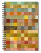 Soft Palette Rustic Wood Series Collage Lll Spiral Notebook