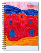 Soft Pueblo Original Painting Spiral Notebook