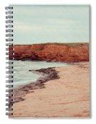 Soft Rain On The Beach Spiral Notebook