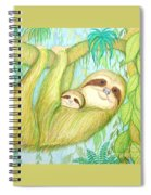 Soggy Mossy Sloth Spiral Notebook