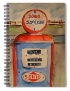 Sohio Gasoline Pump Spiral Notebook