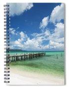 Sok San Pier On Long Beach In Koh Rong Island Cambodia Spiral Notebook