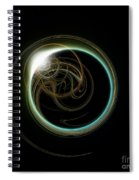 Solar Eclipse With Fractal Spiral Notebook