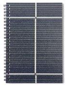 Solar Panel Collector Closeup View Spiral Notebook