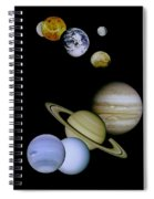 Solar System Montage Spiral Notebook