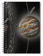 Solar System Orbits, Illustration Spiral Notebook