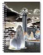 Solarized Infrared City Park Spiral Notebook