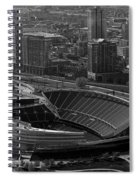 Soldier Field Chicago Sports 05 Black And White Spiral Notebook