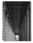 Soldier Field Colonnade Chicago B W B W Spiral Notebook