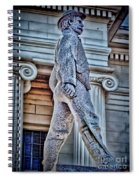 Soldier Statue Hdr Alabama State Capitol Spiral Notebook