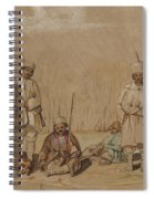 Soldiers Relaxing, 1844 Wc & Gouache On Paper Spiral Notebook