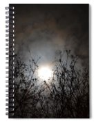 Solemn Winter's Moonlight Spiral Notebook