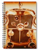 Solid Gold Mercedes Spiral Notebook