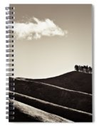 Solitary Cloud Spiral Notebook