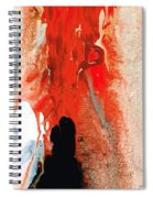 Solitary Man - Red And Black Abstract Art Spiral Notebook