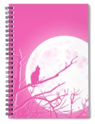 Solitary Pink Background Spiral Notebook