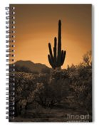 Solitary Saguaro Spiral Notebook