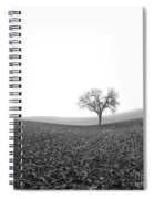 Solitary Tree In Winter. Auvergne. France Spiral Notebook