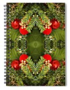 Some Of The Colors Of Christmas Altered Version  Spiral Notebook