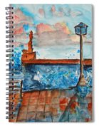 Somplace In Greece Spiral Notebook