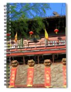 Song Dynasty Town In Dali 2 Spiral Notebook