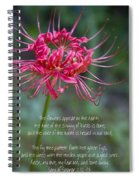 Song Of Solomon - The Flowers Appear Spiral Notebook
