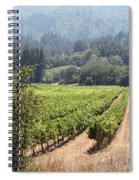 Sonoma Vineyards In The Sonoma California Wine Country 5d24515 Square Spiral Notebook
