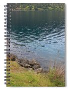 Soothing Lake Crescent Spiral Notebook