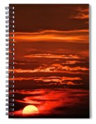 Soothing Saturday Sunset Spiral Notebook