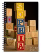 Sophia - Alphabet Blocks Spiral Notebook