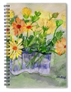 Sophie's Calendulas Spiral Notebook