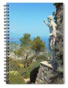 Sorrento Peninsula From Mt Solaro Capri  Spiral Notebook