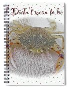 Sorry I Was Crabby Greeting Card - Calico Crab Spiral Notebook