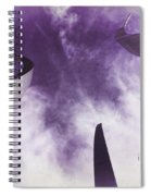Soul In The Sky - Us Air Force Memorial Spiral Notebook