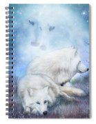 Soul Mates - White Wolves Spiral Notebook