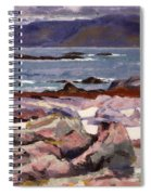 Sound Of Iona  The Burg From The North Shore Spiral Notebook