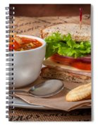 Soup And Sandwich Spiral Notebook