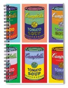 Soup Cans Spiral Notebook