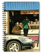 Soups's On Montreal's Favorite Fast Food Road Side Attractions Rue St. Denis Resto Urban City Scene  Spiral Notebook